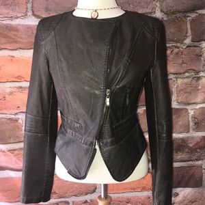 G.E.T. vegan leather moto jacket